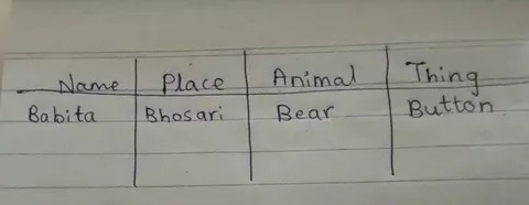Sort Nouns As Person Place Animal Or Thing